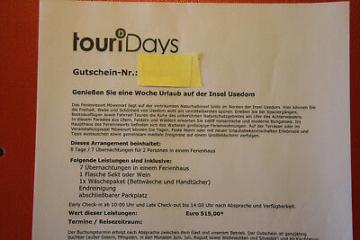 7 Tage Urlaub im Ferienhaus für 2 Personen Insel Usedom