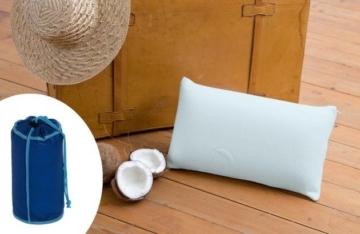 HEFEL Reisekissen Cool Kopfkissen kühlendes Nackenkissen 25x45 cm mit Bezug