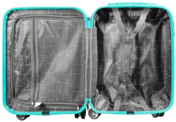 Leichter Koffer-Hartschale Reise Urlaub Gepäck Santorin Schwarz-Türkis Set