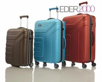 Travelite Reise Vector 2 4 Rollen Trolley Koffer Set 55 70 77 S M L Grau Pflaume